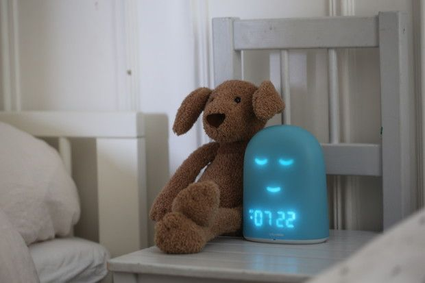 REMI is a fantastic new alarm clock for kids  and babies. It's also a soft nightlight, a sleep tracker + more. And we love that the facial expression (smile = get out of bed) helps kids who can't tell time yet.