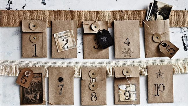 Love the DIY Advent Calendar from Country Style