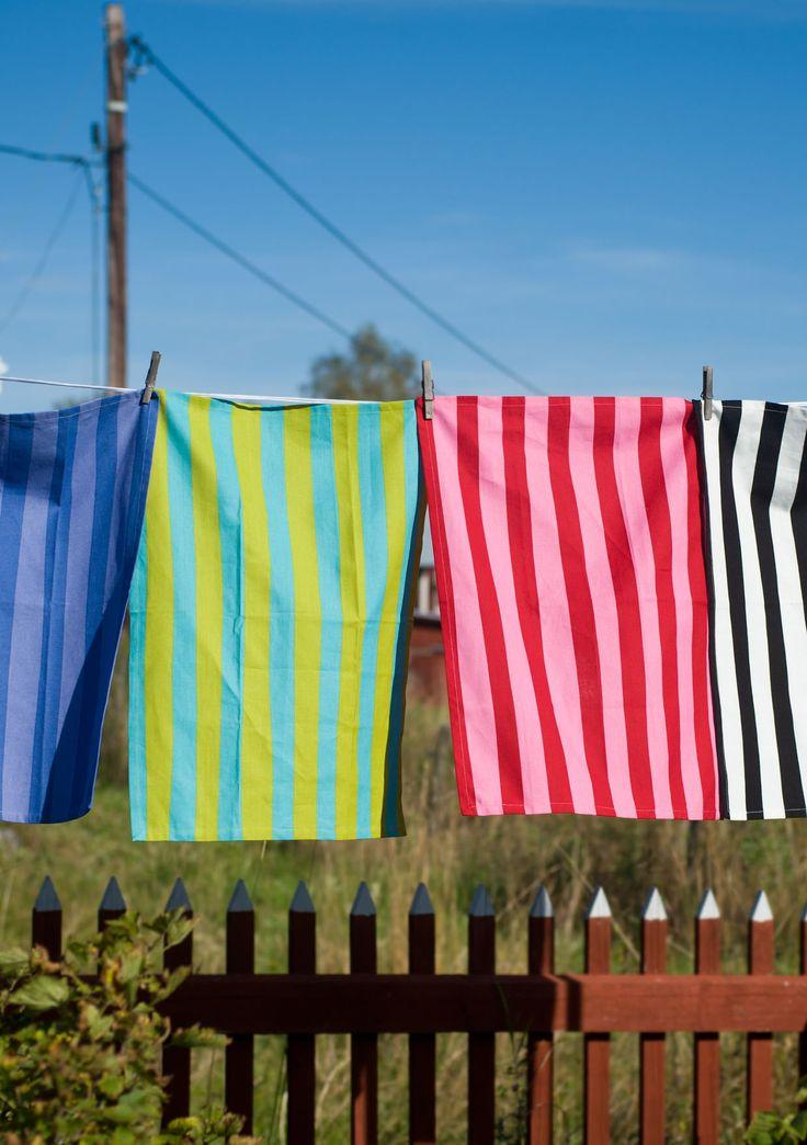 """Kjøkkenhåndkle """"Långrand"""" i økobomull 1-pack – Spiseplassen – GUDRUN SJÖDÉN – Kläder Online & Postorder"""