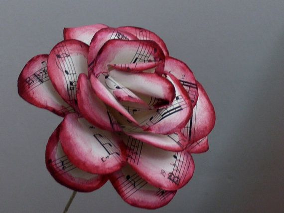 25 best ideas about sheet music flowers on pinterest for Paper roses sheet music free