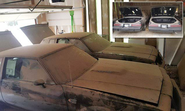 How did twin 1987 Buick Grand Nationals end up in a dirty garage? #DailyMail