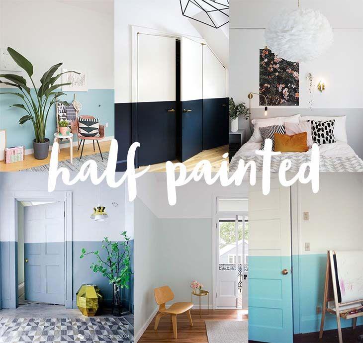 Beautiful Tudo sobre half painted wall ou tenho uma parede rosa