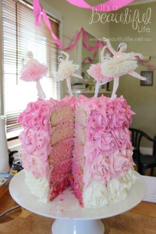 Ballerina Party Cake DIY | Beautifullife Shop and Blog