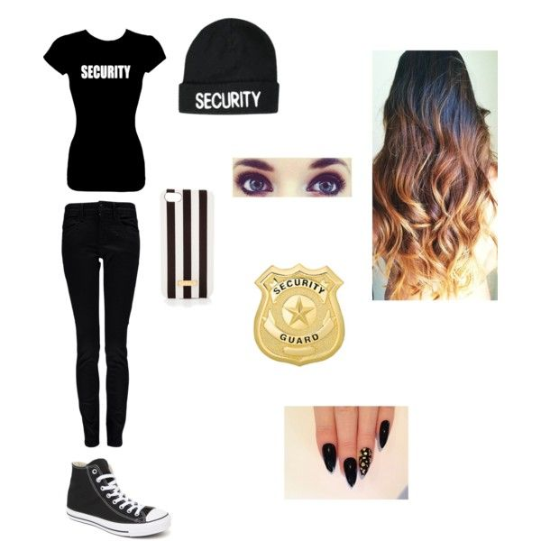 Mike Schmidt the Security Guard (FNaF) by kyro19 on Polyvore featuring polyvore, fashion, style, Calvin Klein, Converse and Henri Bendel