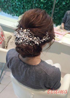 ドレスから色打掛へ♡お洒落花嫁さまのスタイルチェンジ!リハ篇 の画像|大人可愛いブライダルヘアメイク『tiamo』の結婚カタログ