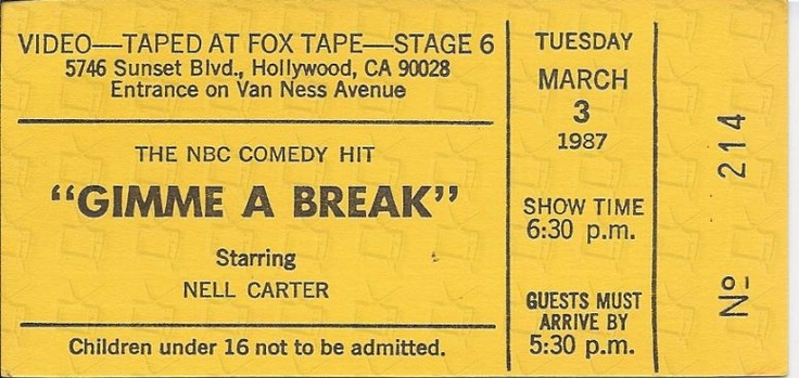 Gimme a break comedy showtime video tapes