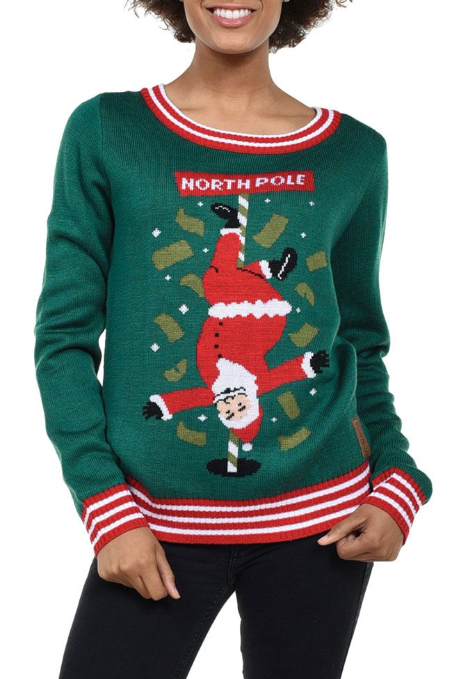 d50b50ed28f Women s North Pole Dancer Ugly Christmas Sweater