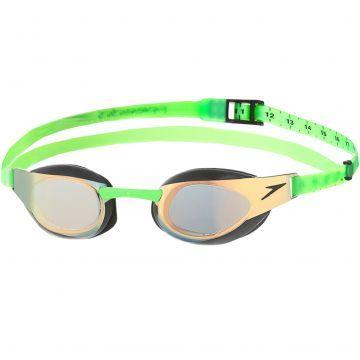 Speedo Elite Aynalı Yarış Gözlüğü - Altın/Yeşil