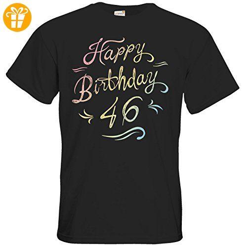 getshirts - RAHMENLOS® Geschenke - T-Shirt - Geburtstag Birthday rainbow 46 - black XL (*Partner-Link)