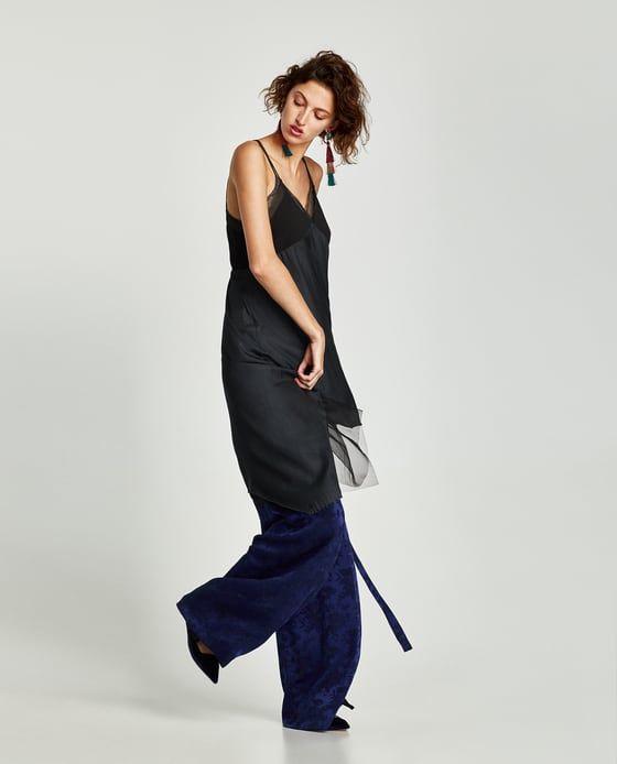 ZARA - SALE - CONTRASTING POINTED DRESS