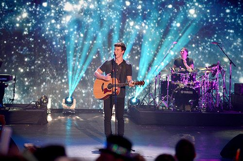 Shawn Mendes performs at Pitbull's New Year's Eve Revolution 2016 at Bayfront Park Amphitheater on Dec. 31, 2015 in Miami, Florida.