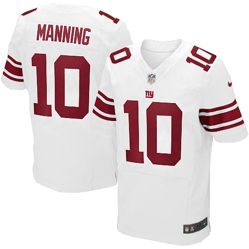 Nike Elite Mens New York Giants http://#10 Eli Manning White NFL Jersey