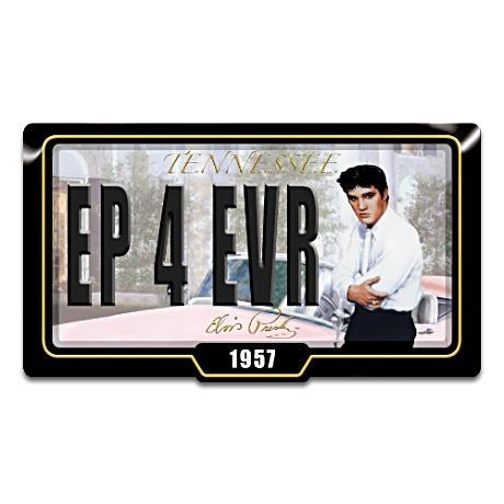 """Elvis Presley Memphis Dreams Collectible """"License Plate"""""""