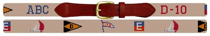Custom Yacht Club Belt Needlepoint Kit