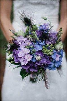 Lavender and blue bouquet.