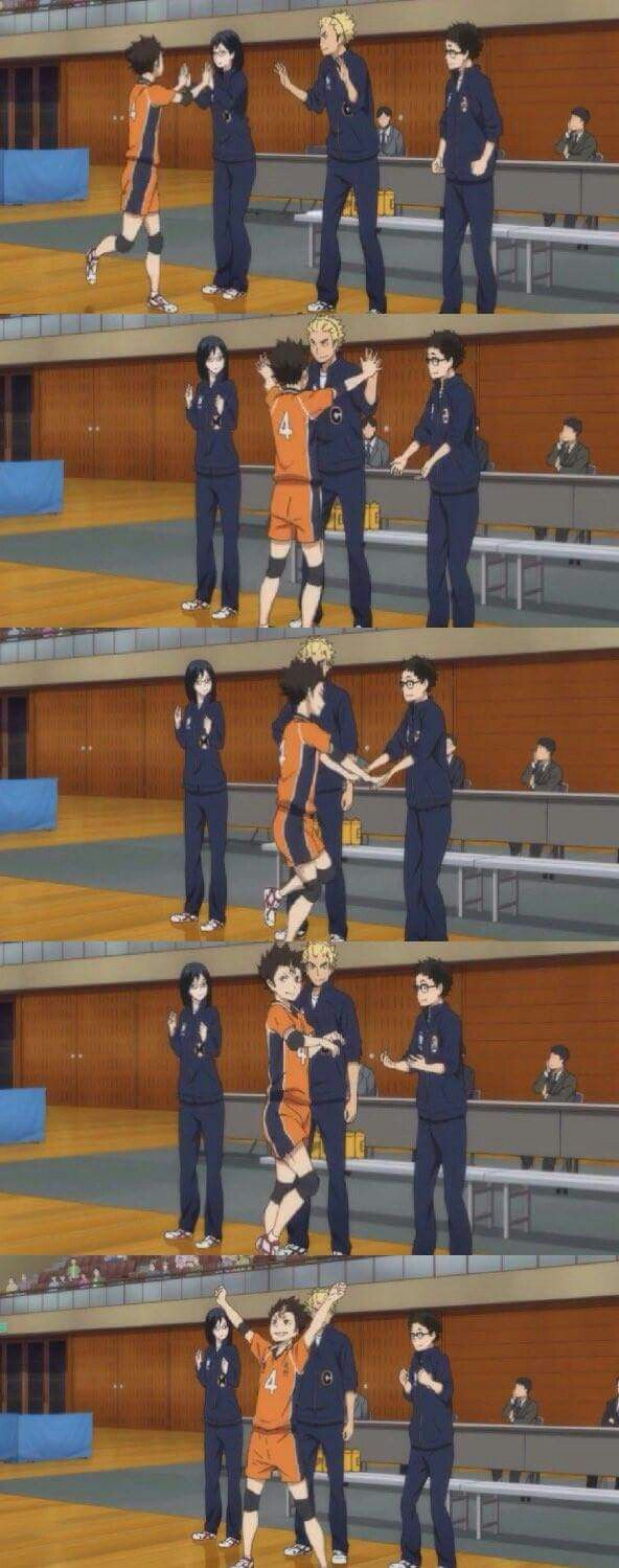 Nishinoya looked sassy at the fourth panel... looking good, Noya-senpai!!! || Haikyuu!!
