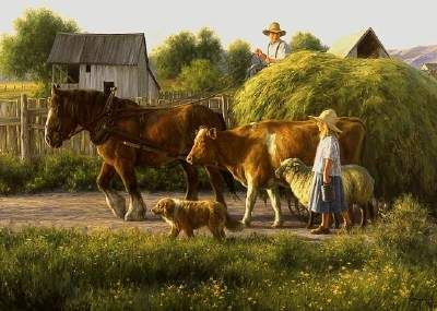 """""""The Passing Parade"""", by American artist - Robert Duncan (1952 - )"""