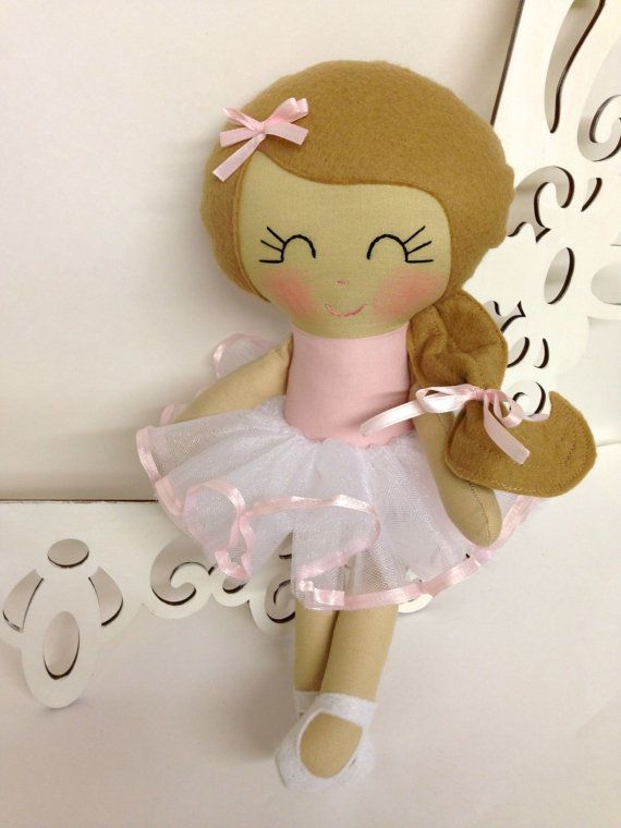 Ballerina Handmade Doll Fabric Dolls Soft Dolls by SewManyPretties, $50.00 #ballerina #balletdoll #ballerinaparty