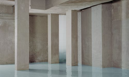 Noemie Goudal - Commission for Derwent, 180 x 300 cm, London, 2012 Picture taken in the basement of Central Cross, London, UK