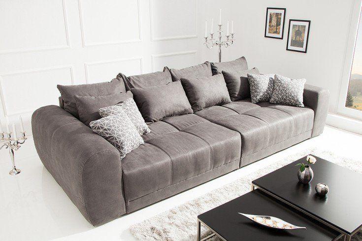 Modernes XXL Sofa GIANT LOUNGE 300cm dunkelgrau inkl ...