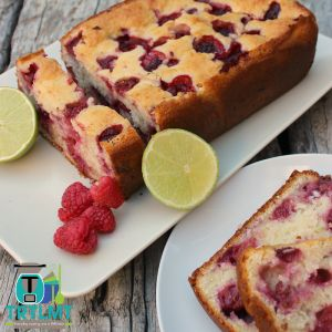 Raspberry and Lime Coconut Bread - The Road to Loving My Thermo Mixer