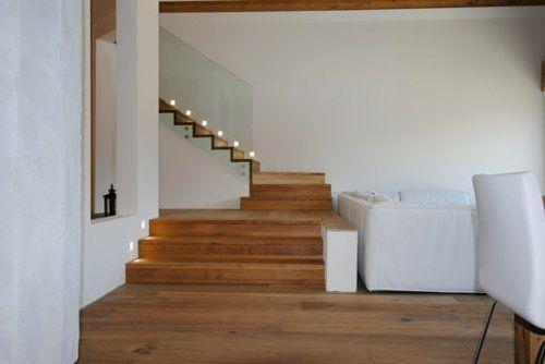 escalier design moderne  bois verre