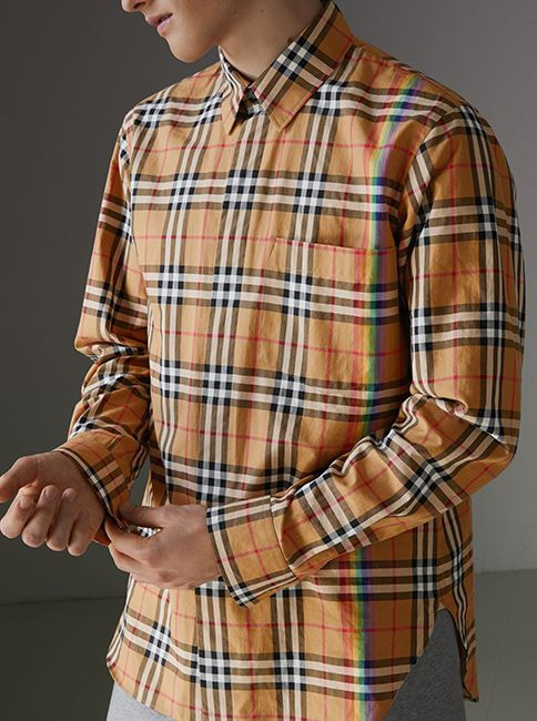 b43809594d14a A  Burberry cotton shirt in our archive-inspired check from the 1960s