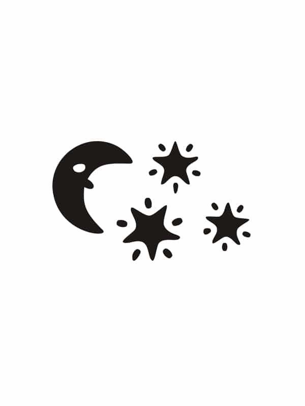 Vaggdekor – Mane och stjarnor för barnrummet, passande till din tavla.