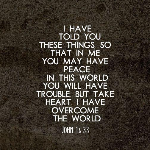 John 16:33 NIV | Insta.Bible