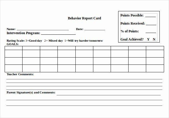 Free Report Card Template Inspirational 12 Progress Report Card Templates To Free Download Report Card Template School Report Card Word Cards