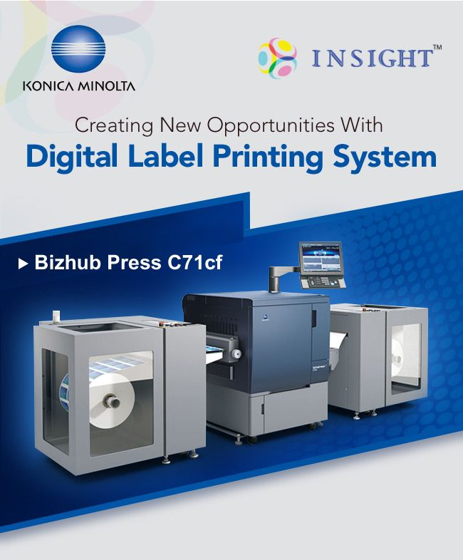 Konica Minolta : Creating New Opportunities with Digital Label Printing System. For more call +91 9205596101/102/103/104/105 Or #Konica #Minolta #Digital #Label #Printing #System #india