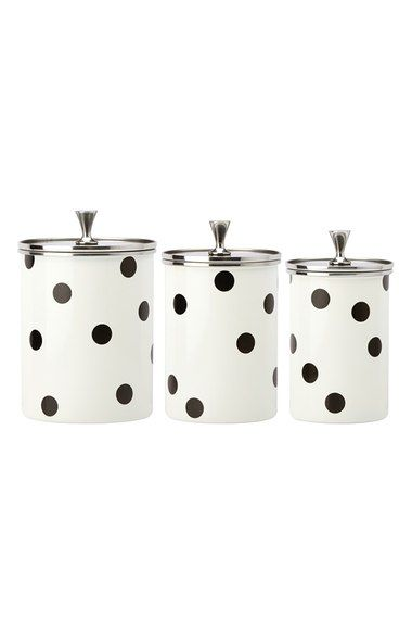 kate spade new york 'deco dot' canisters (Set of 3) (Nordstrom Exclusive)…
