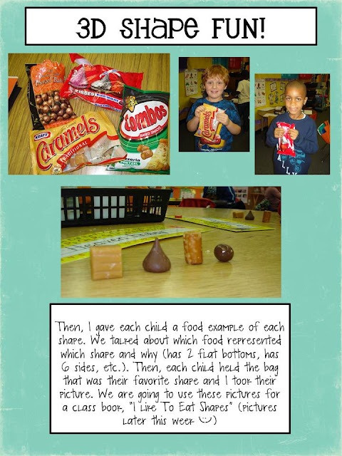 3D shape snacks!