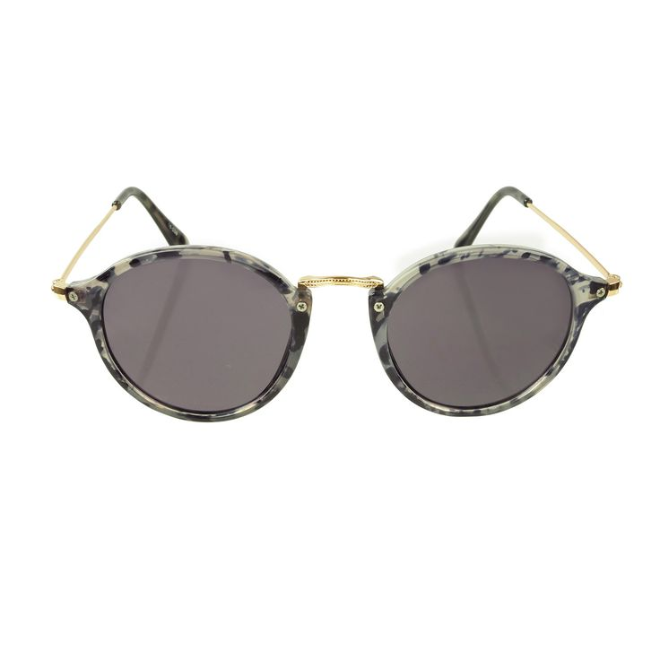 Ronde zonnebril met print
