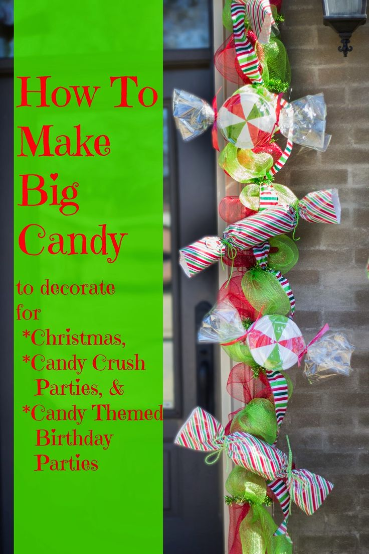Diy grinch christmas decorations - Miss Kopy Kat Make Big Candy Decorations Grinch Christmaschristmas