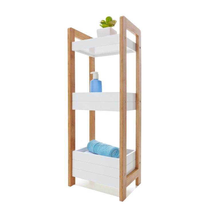 Bamboo 3 Tier Caddy Homemaker Bamboo