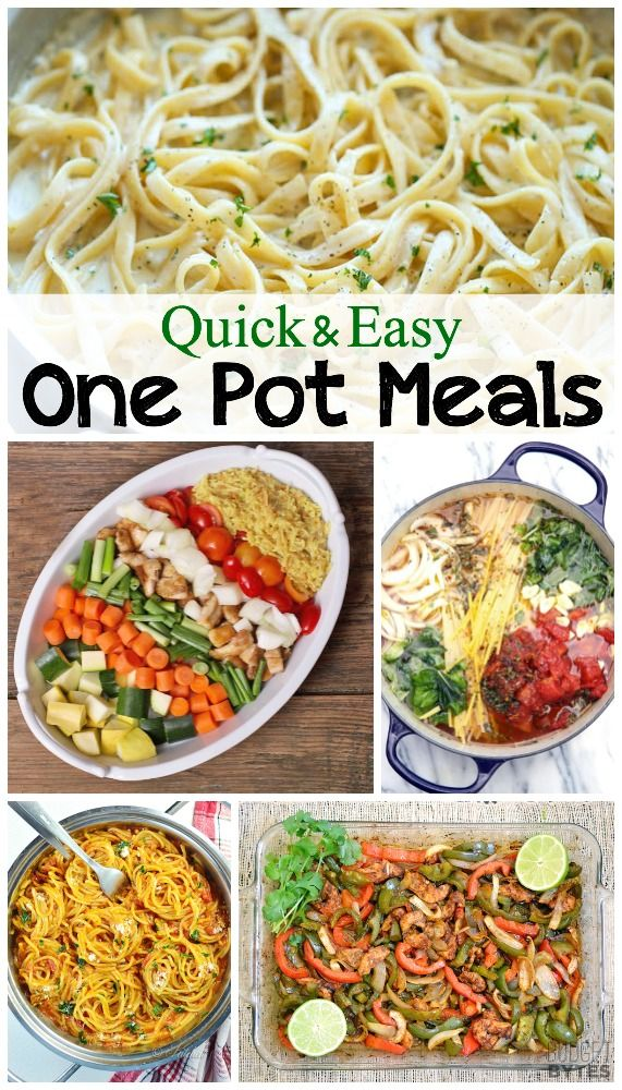 12 easy one pot meals.