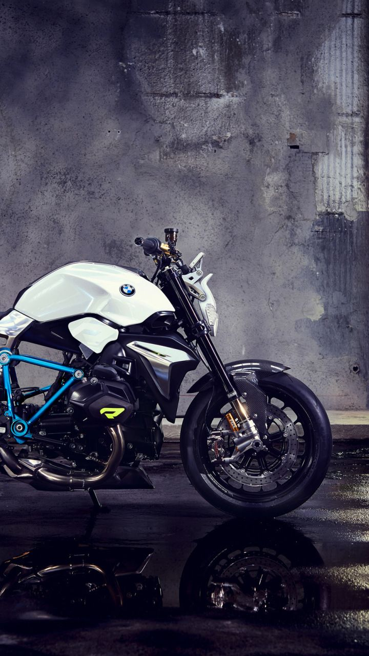 Bmw Concept Roadster Bike Basement 720x1280 Wallpaper