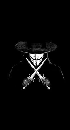 iPhone, V for Vendetta, Anonymous, Mask, Blades, Black - Wallpaper