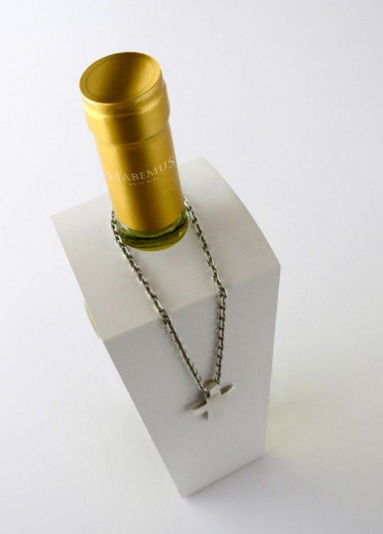 Habemus Wine packaging design by La Croqueta Estudio. In Lovely Package.