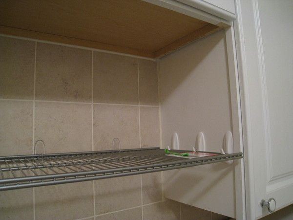 Use command hooks to add shelf over sink in the kitchen.