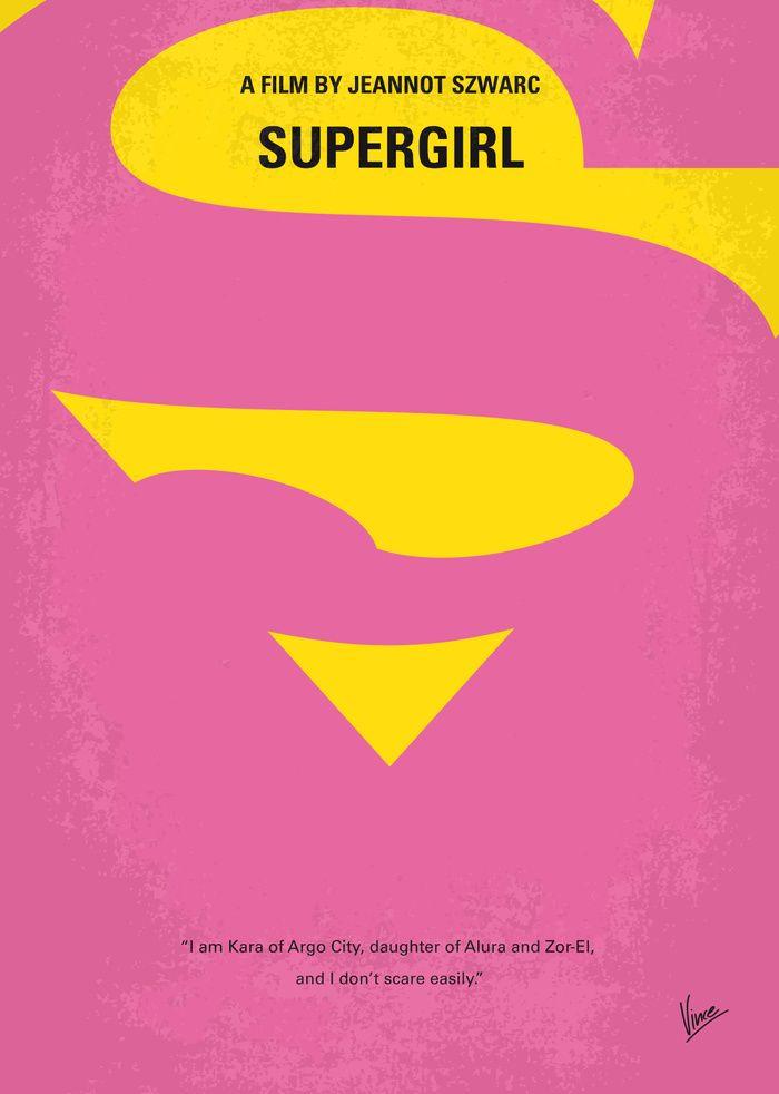 Supergirl (1984) ~ Minimal Movie Poster by Chungkong #amusementphile