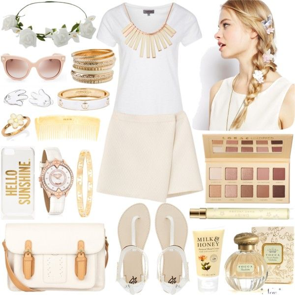 """style a white tee #2"" by michellezee on Polyvore"