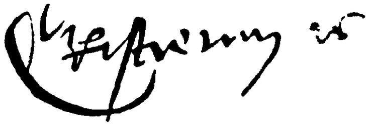 Christian II of Denmark's signature