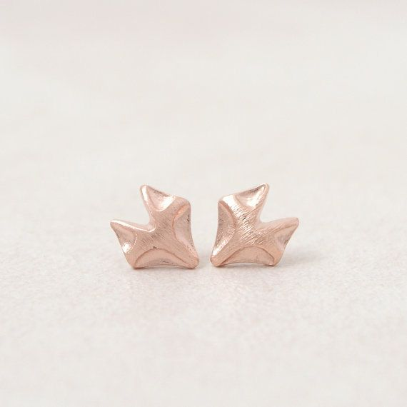 Black friday: Fox Earrings. Gold Plated Stud Earring by FunIsStyle