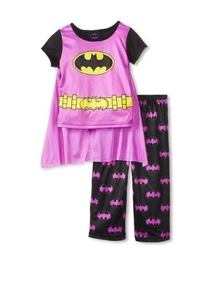 57% OFF Kid's Batman 2-Piece Pajama Set with Cape (Purple)
