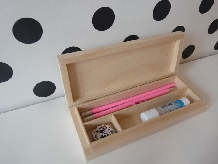 Wooden unfinished pencil case for decoupage - feel free to visit our nkcraftstudio shop on Etsy.com ;)
