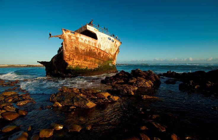The Meishu Maru shipwreck along the Agulhas coastline