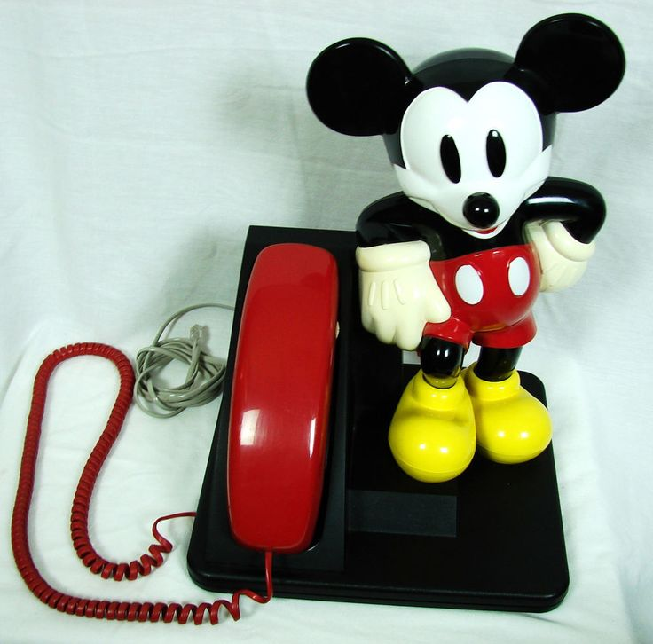 AT&T 210 Mickey Mouse Push Button Trimline Phone Tone/Pulse 1990s Telephone  #ATT