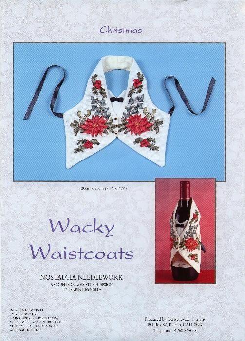 Схемы вышивки: Фартуки на бутылку.